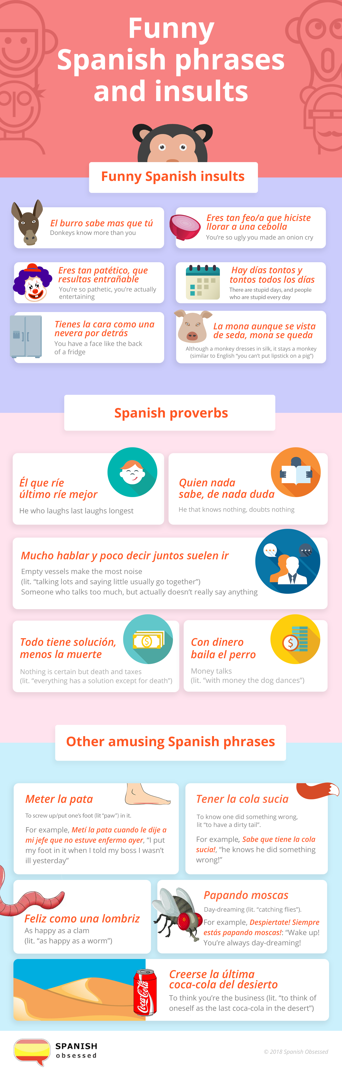 Funny Spanish Phrases and Insults | Spanish Obsessed